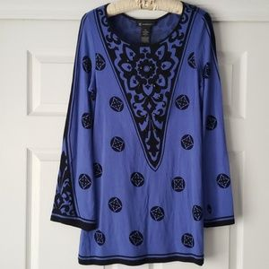 INC International Concepts beaded tunic blouse